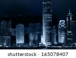 skyline of city | Shutterstock . vector #165078407