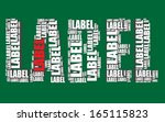 label typography 3d text word... | Shutterstock .eps vector #165115823