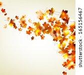 autumn falling leaves... | Shutterstock .eps vector #165156467