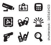 security icons | Shutterstock .eps vector #165161423