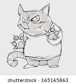 evil cat | Shutterstock .eps vector #165165863