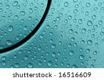 rain drops on metallic paintwork - stock photo