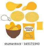 potato chips. vector...   Shutterstock .eps vector #165172343