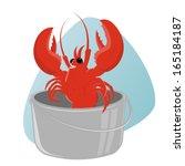 Funny Cartoon Lobster In Pot