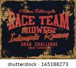 vector vintage race poster. | Shutterstock .eps vector #165188273