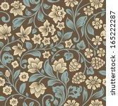 vector seamless vintage floral... | Shutterstock .eps vector #165222287