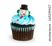 a colorful cupcake with toy... | Shutterstock . vector #165259427