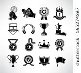 awards and trophy icons | Shutterstock .eps vector #165274367