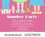 slumber party | Shutterstock .eps vector #165278453
