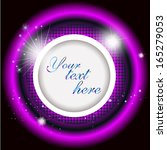 glowing purple ring of circles. ... | Shutterstock .eps vector #165279053