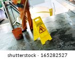 cleaning in progress  and wet... | Shutterstock . vector #165282527