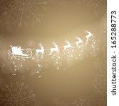 vector illustration of santa... | Shutterstock .eps vector #165288773