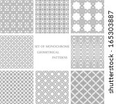 set of 8 monochrome geometrical ... | Shutterstock .eps vector #165303887