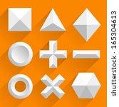 polygonal shapes vector white | Shutterstock .eps vector #165304613