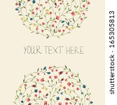 floral invitation | Shutterstock .eps vector #165305813