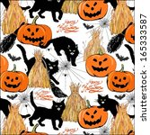 halloween colorful pattern with ... | Shutterstock .eps vector #165333587