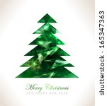 christmas greeting card merry... | Shutterstock . vector #165347363