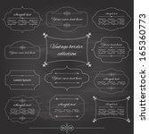 vintage frame set on chalkboard ... | Shutterstock .eps vector #165360773