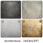 metal plates with screws and... | Shutterstock . vector #165361397