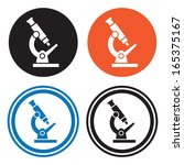 microscope icons | Shutterstock .eps vector #165375167