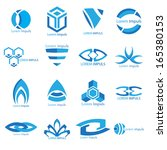 business icons set.  vector... | Shutterstock .eps vector #165380153