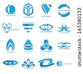 business icons set.    Shutterstock .eps vector #165380153