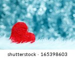 lonely red string heart on the... | Shutterstock . vector #165398603