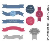 retro design ribbons and labels.... | Shutterstock .eps vector #165401837