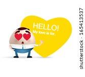 businessman cartoon. love... | Shutterstock .eps vector #165413537