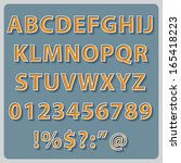 retro text style alphabet... | Shutterstock .eps vector #165418223