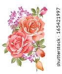 watercolor illustration flowers ... | Shutterstock . vector #165421997