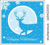 happy holidays illustration | Shutterstock .eps vector #165423353