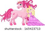 beautiful pink fairy princess... | Shutterstock .eps vector #165423713