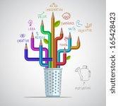 pencils infographics | Shutterstock .eps vector #165428423