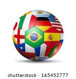 3d football soccer ball with... | Shutterstock . vector #165452777