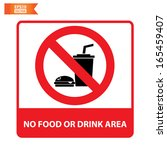 Vector  No Food Or Drink Area...