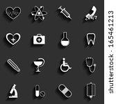 medical vector flat icons set | Shutterstock .eps vector #165461213