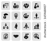 icon set in black with a square ...   Shutterstock .eps vector #165468407