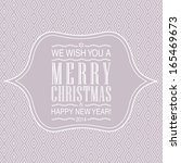 letterpress merry christmas... | Shutterstock . vector #165469673