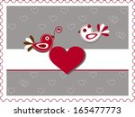 "st.valentine day's card ""birds...   Shutterstock .eps vector #165477773"