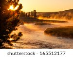 Sunrise Above Yellowstone Rive...