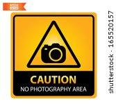 vector  caution no photography...   Shutterstock .eps vector #165520157