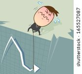when stocks fall on the curve ... | Shutterstock .eps vector #165527087
