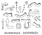 hand drawn arrows | Shutterstock .eps vector #165540023