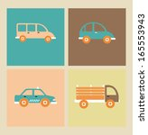 transport  design over beige ... | Shutterstock .eps vector #165553943