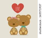 love design over gray... | Shutterstock .eps vector #165571937