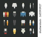 Cable Wire Computer Icons With...
