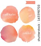 orange watercolor vector circles | Shutterstock .eps vector #165598703