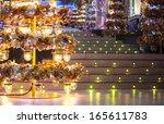 golden christmas tree  | Shutterstock . vector #165611783