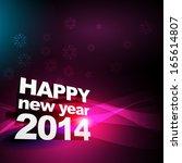 beautiful shiny happy new year... | Shutterstock .eps vector #165614807
